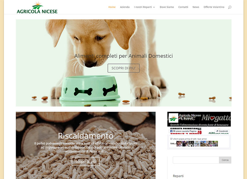 Sito web dinamico: Agricola Nicese