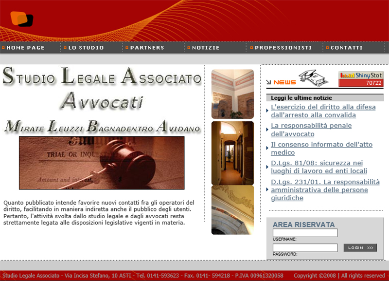 Sito web statico: Studio Legale Associato Mirate