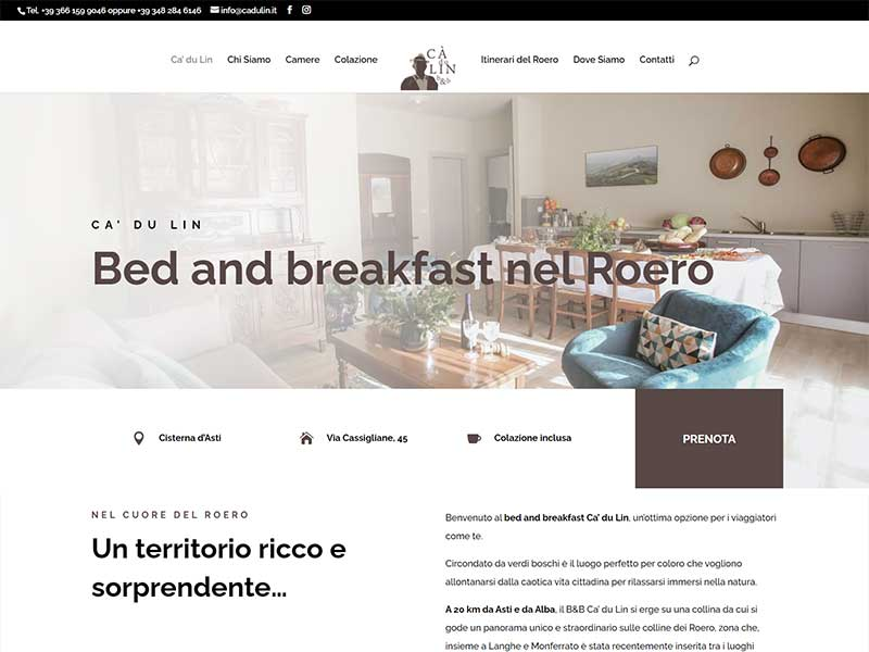 Bed and breakfast Ca' du Lin